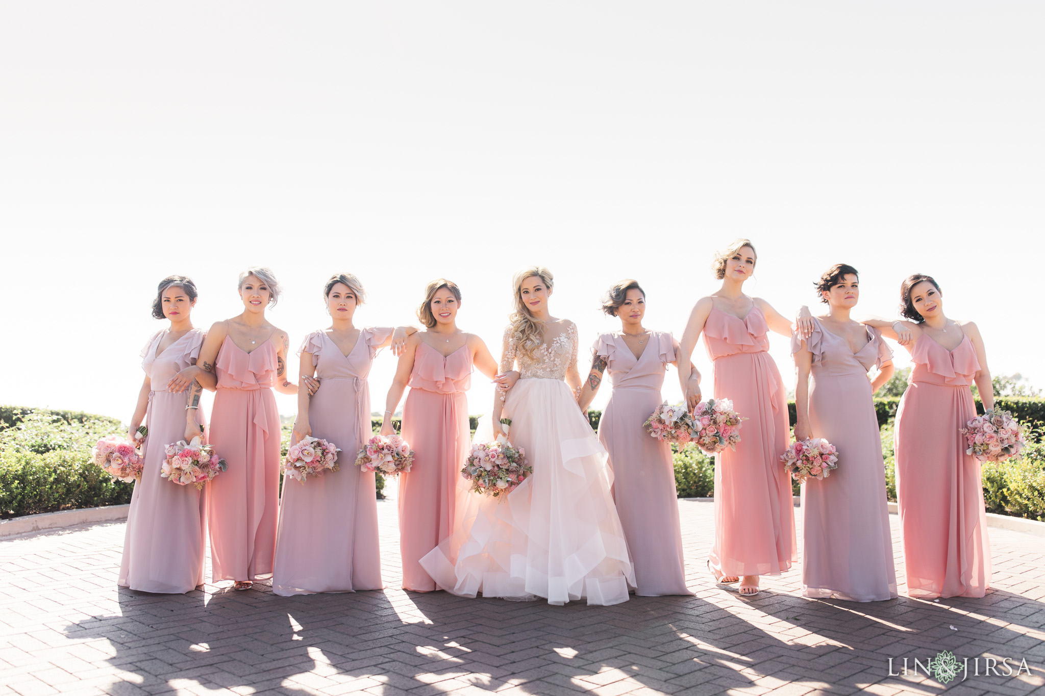 bridesmaids at pelican hill wedding