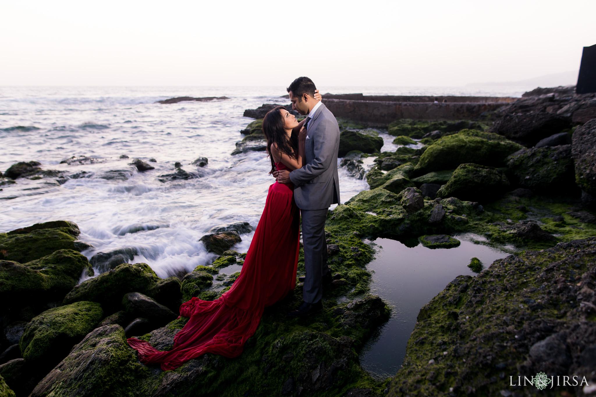 Orange County Laguna Beach Engagement Anita Muneesh