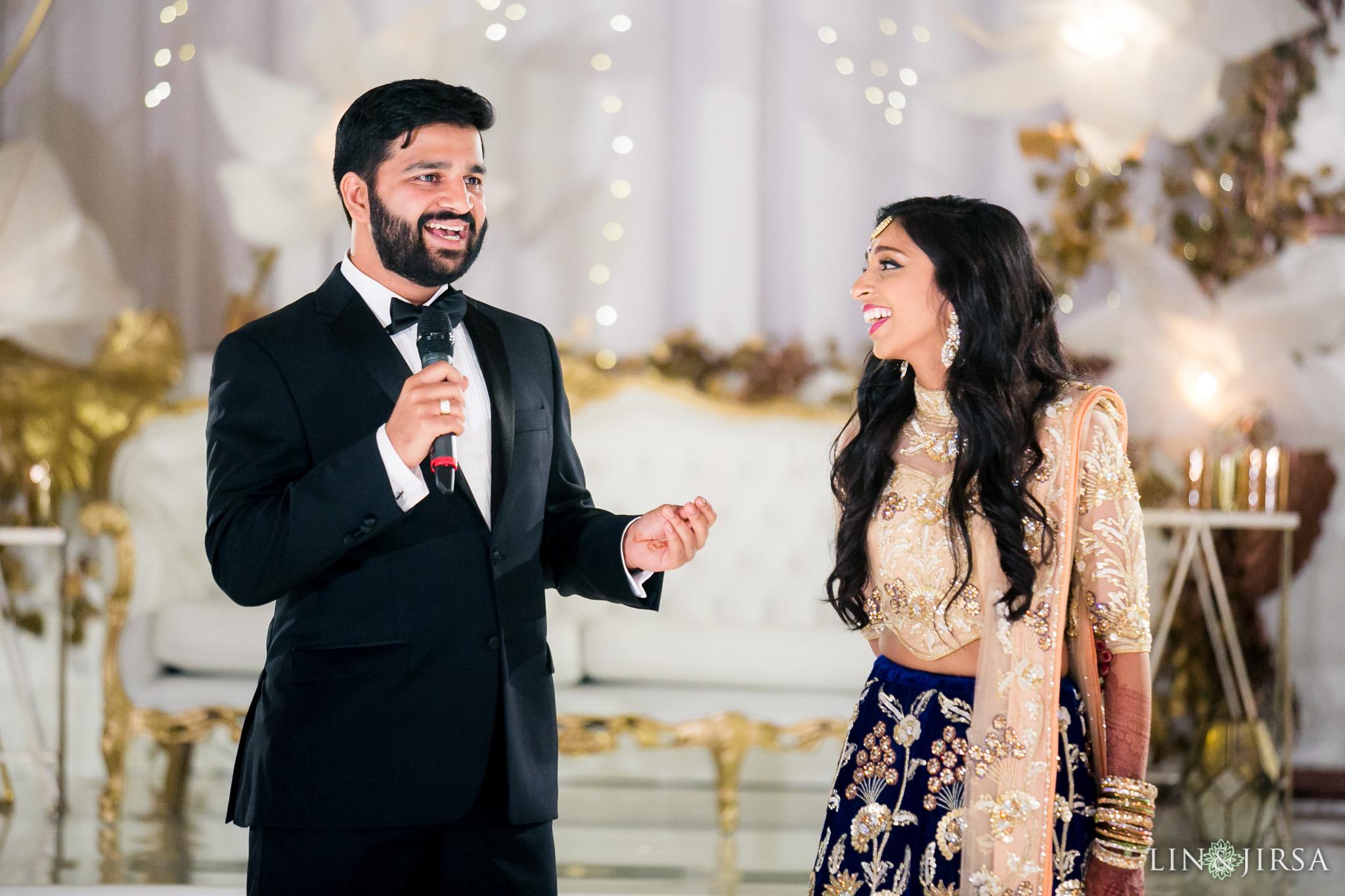 Reception Ceremony In Hindi: Huntington Beach Hyatt Regency Indian Wedding Reception