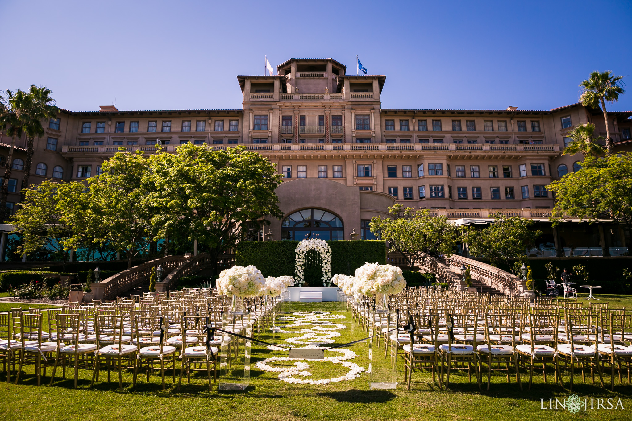 langham outdoor wedding ceremony
