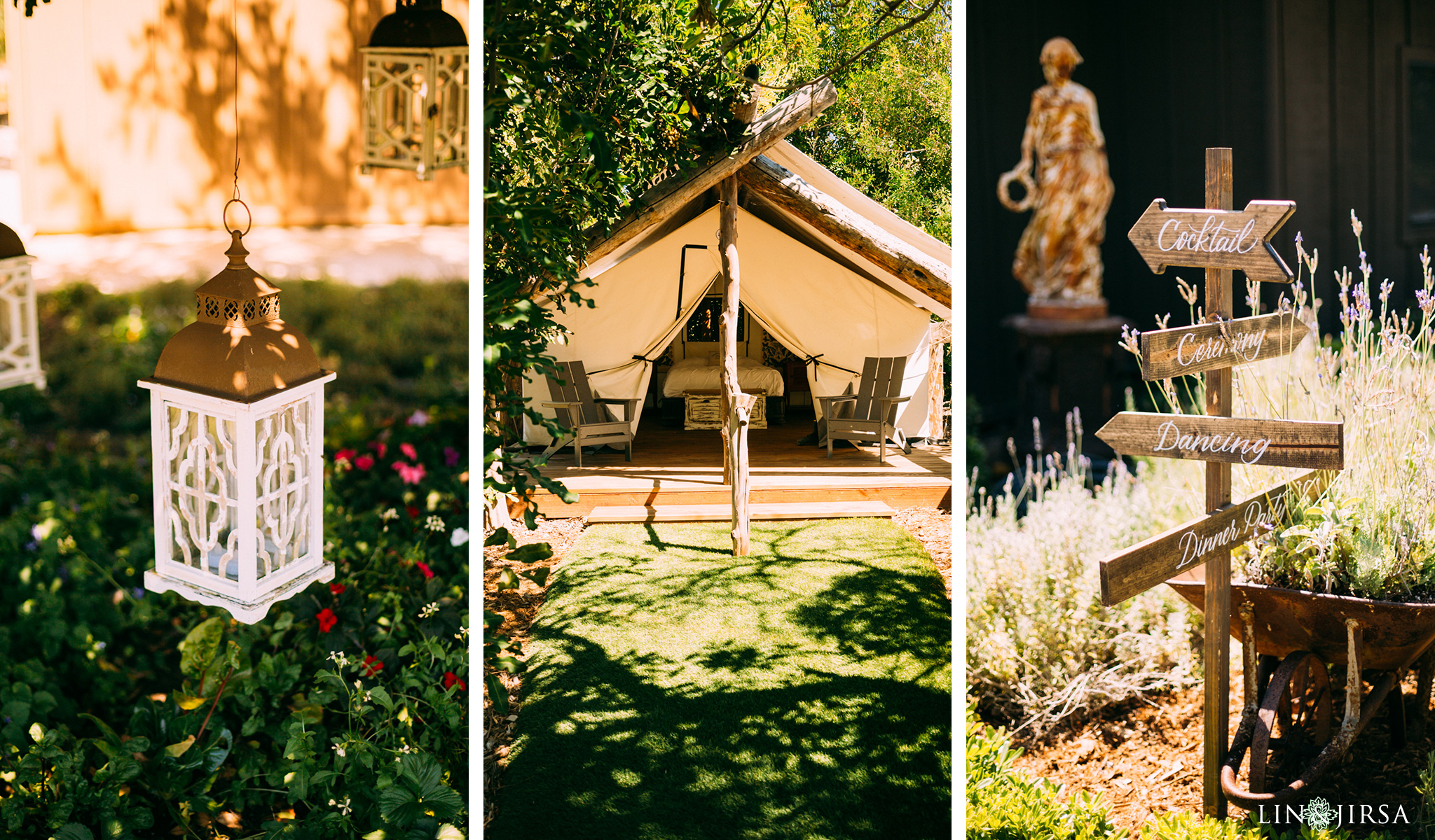 ethereal open air resort wedding entrance details