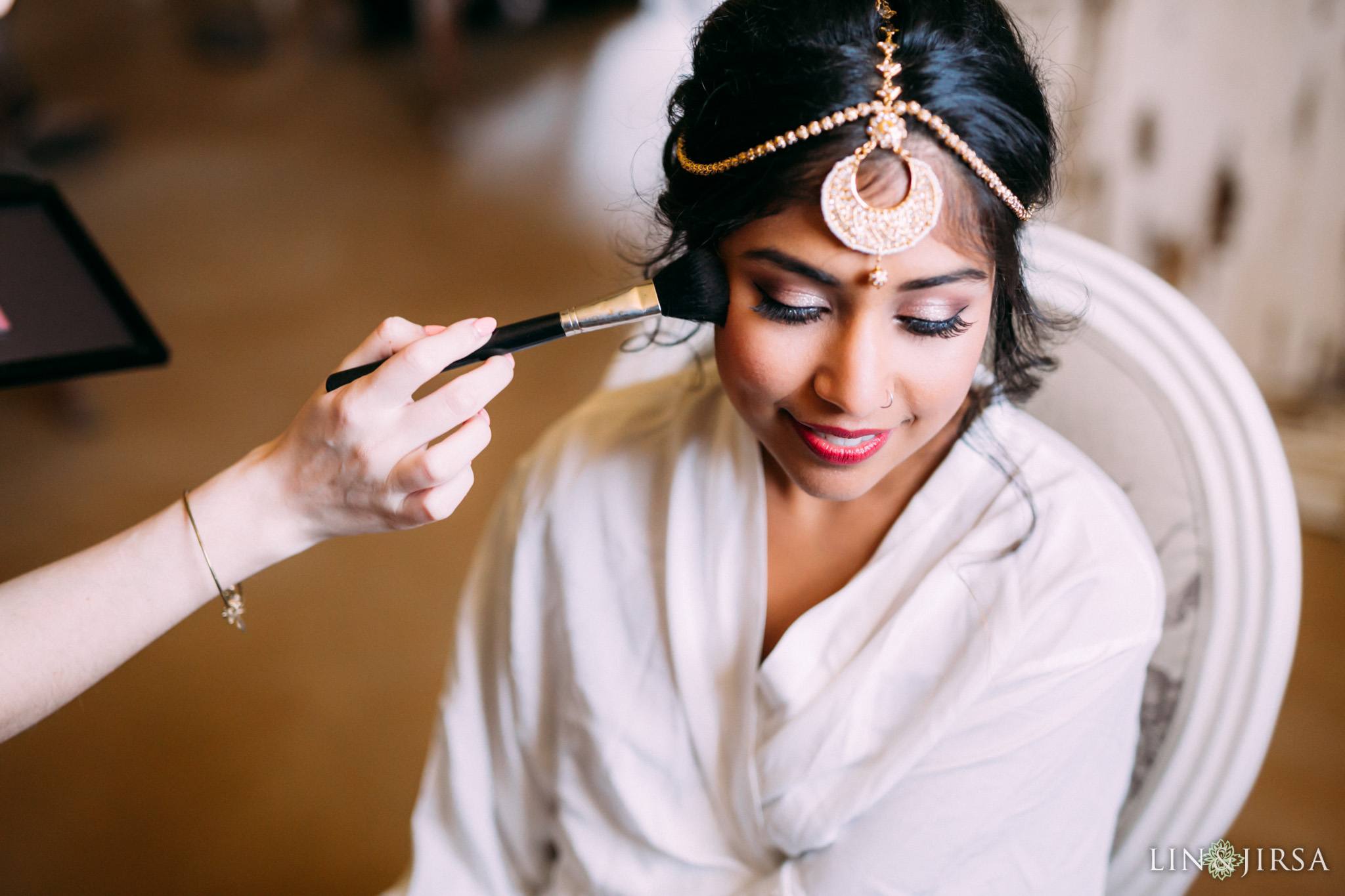ethereal open air resort wedding bride hair and makeup