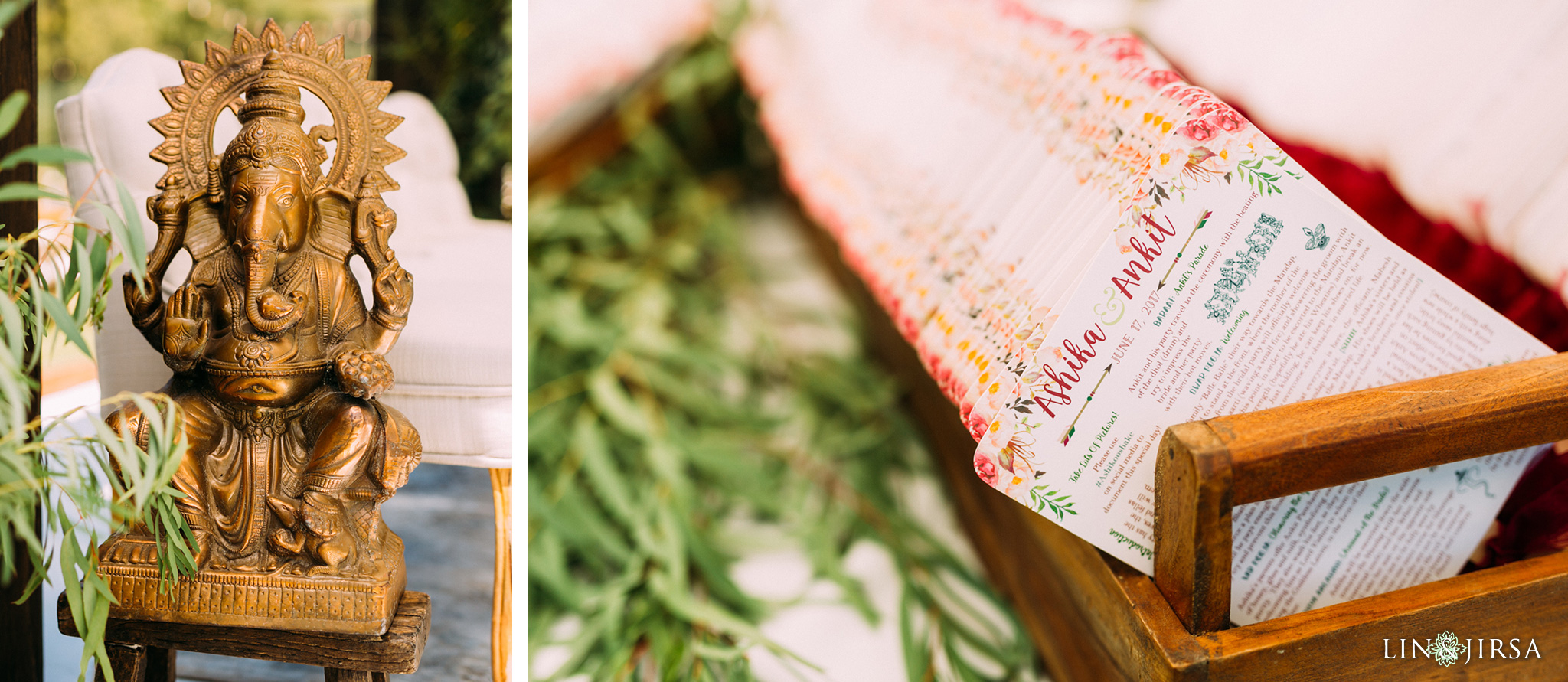 ethereal open air resort wedding ceremony invitation details