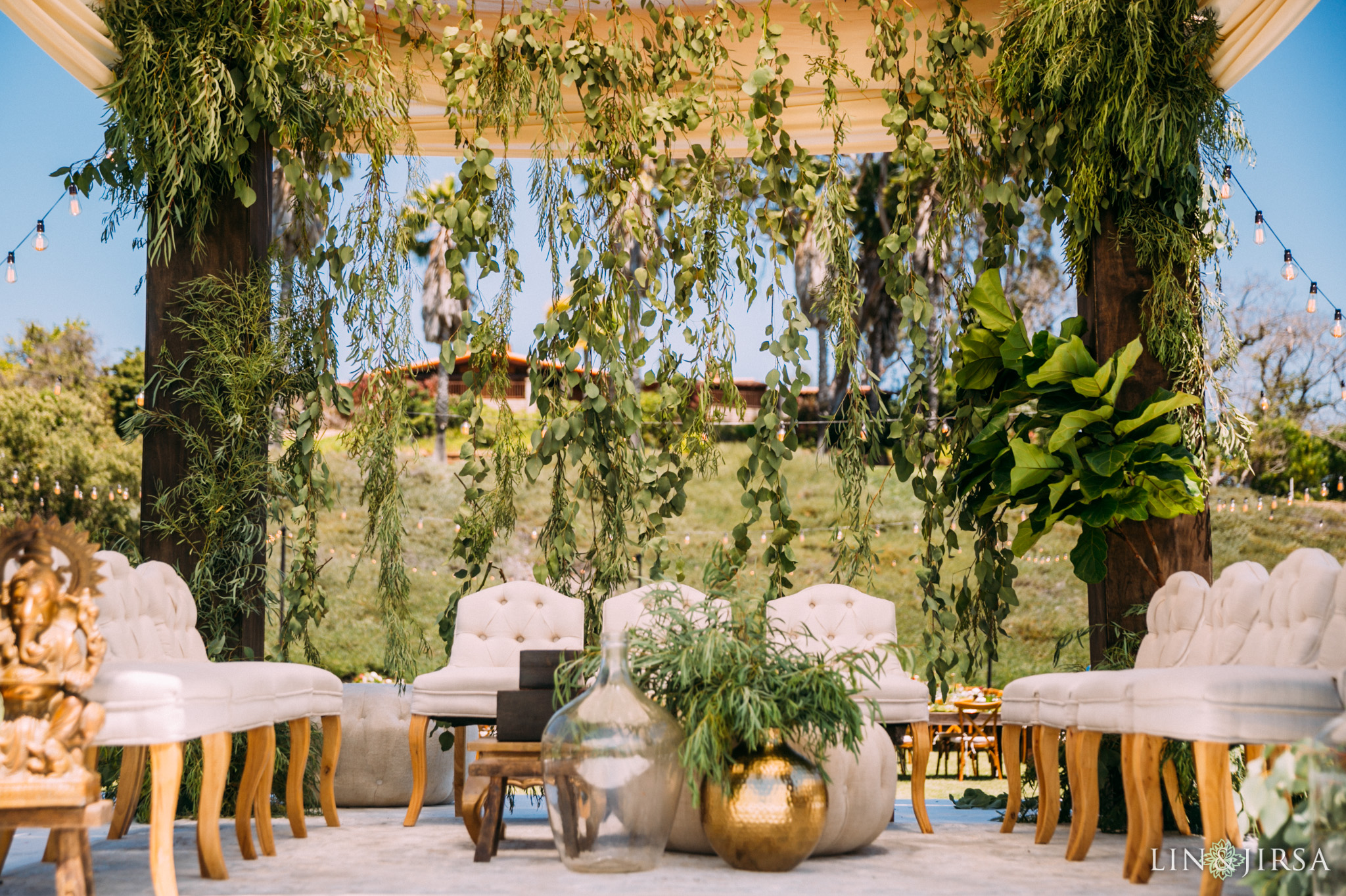 ethereal open air resort wedding ceremony site