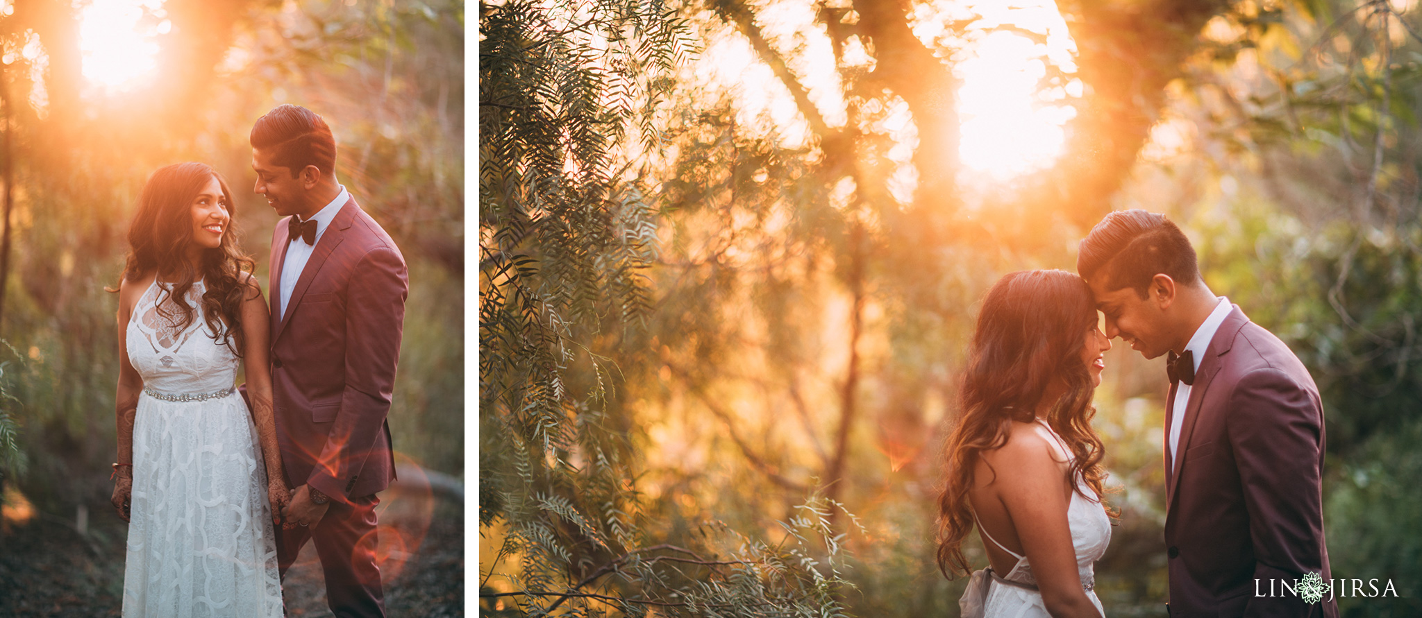 ethereal open air resort wedding sunset couple session