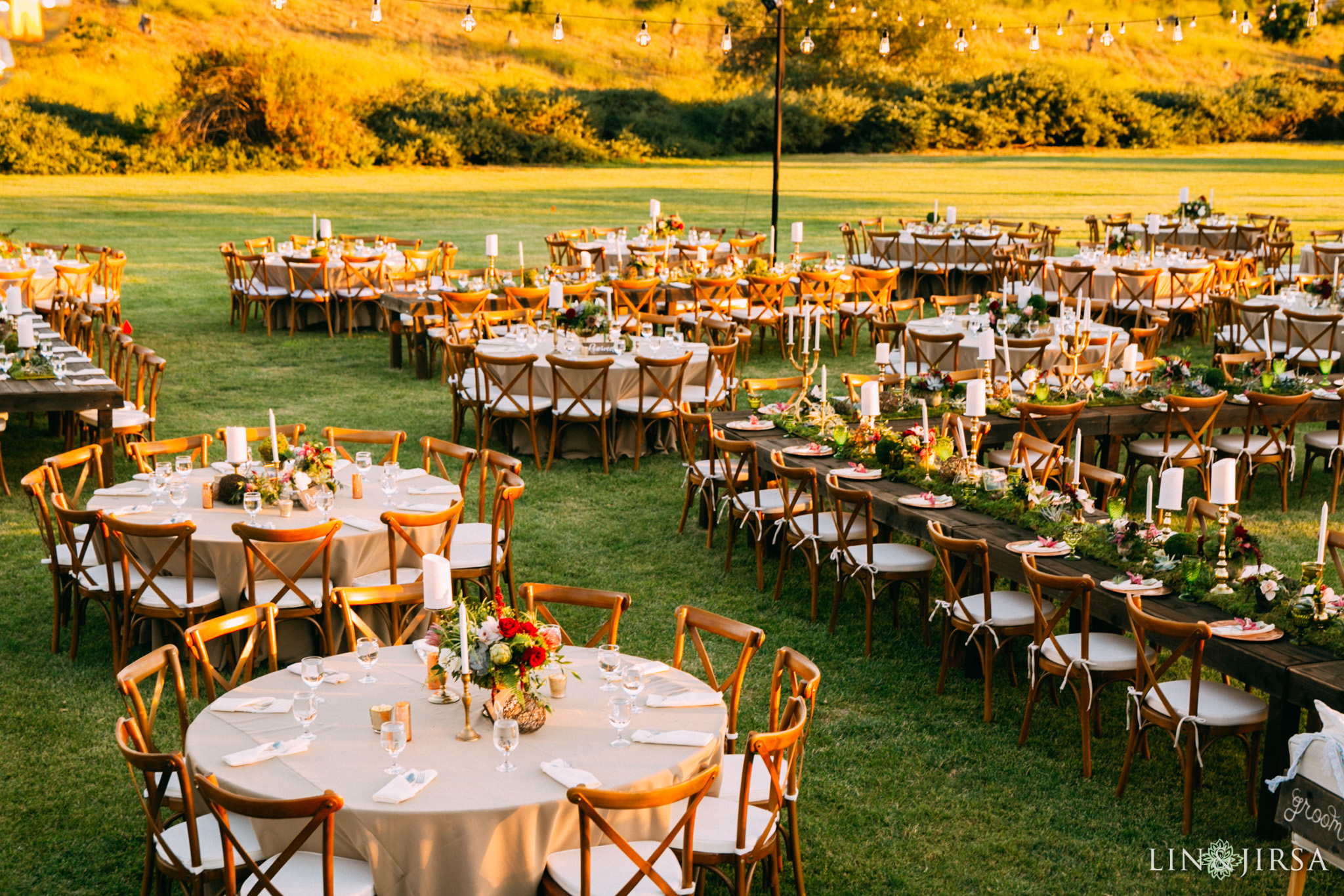 ethereal open air resort wedding reception