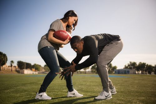 0 coronado island san diego football engagement photography