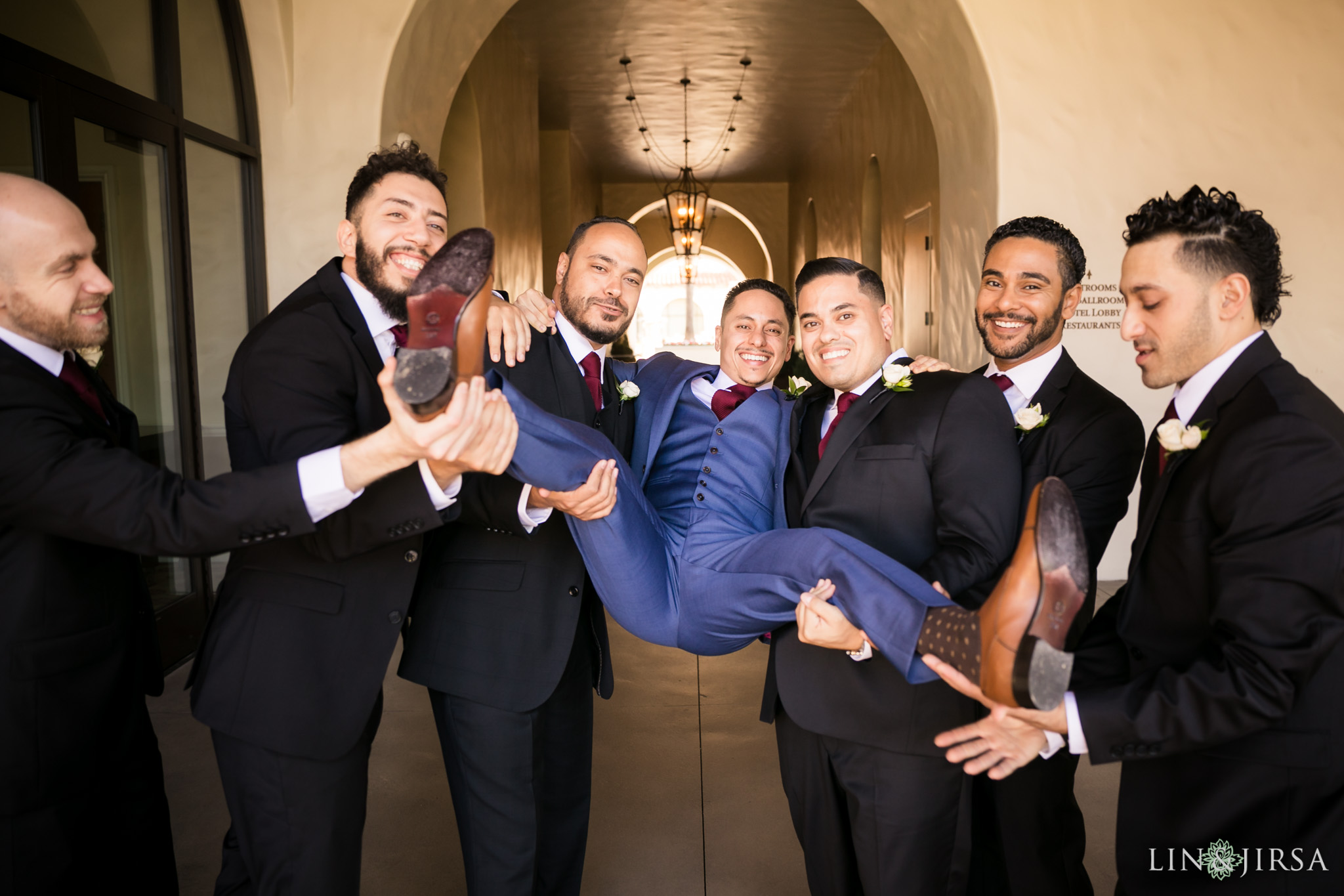 11 hyatt regency huntington beach groomsmen photography