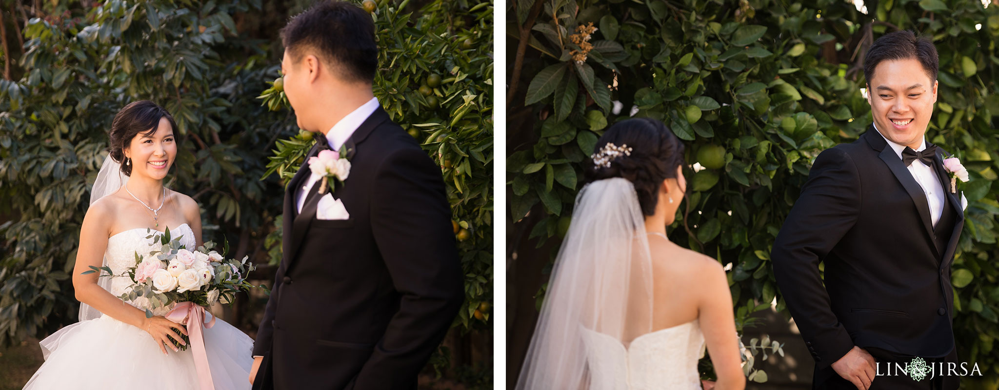 12 brookside golf club pasadena first look wedding photography