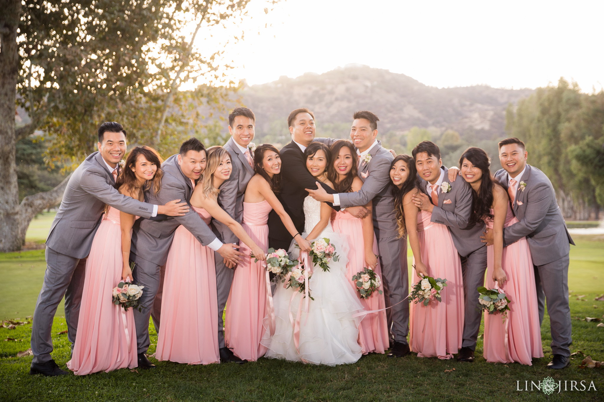 16 brookside golf club pasadena wedding party photography