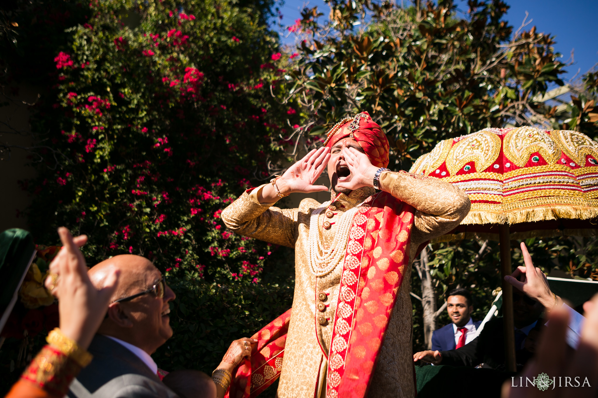 23 four seasons westlake village indian wedding baraat photography