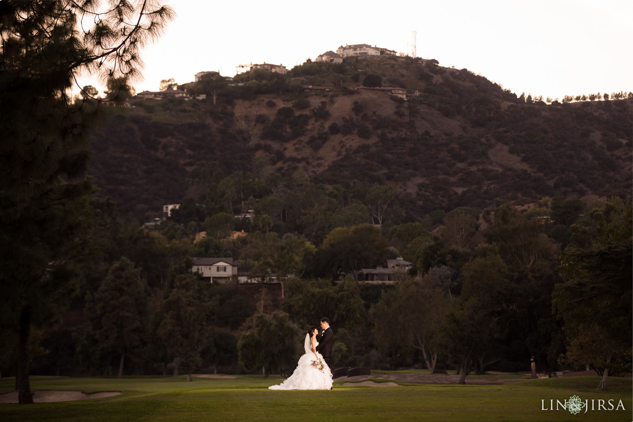 28 brookside golf club pasadena wedding couple photography