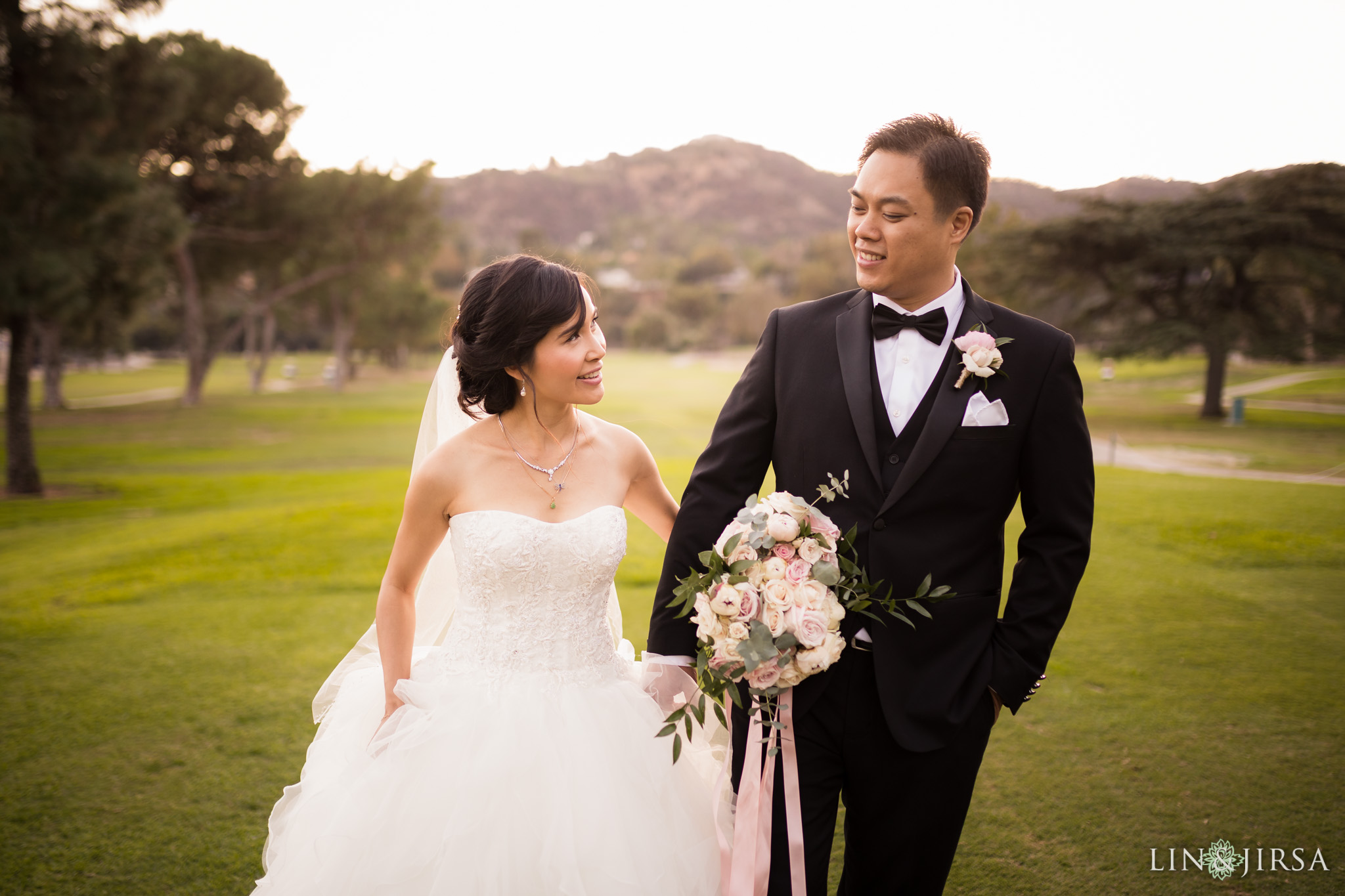 30 brookside golf club pasadena wedding couple photography