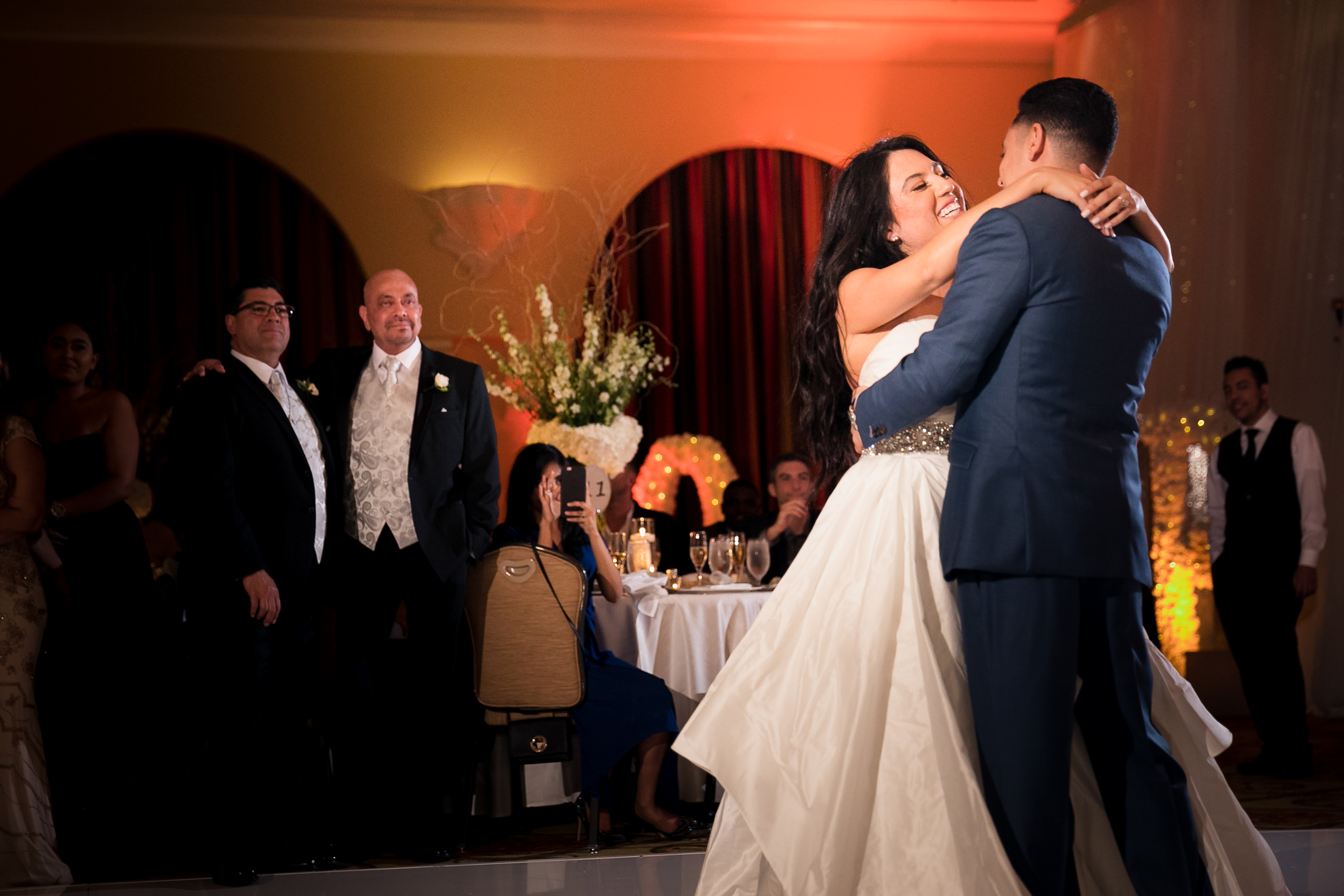38 hyatt regency huntington beach wedding first dance photography