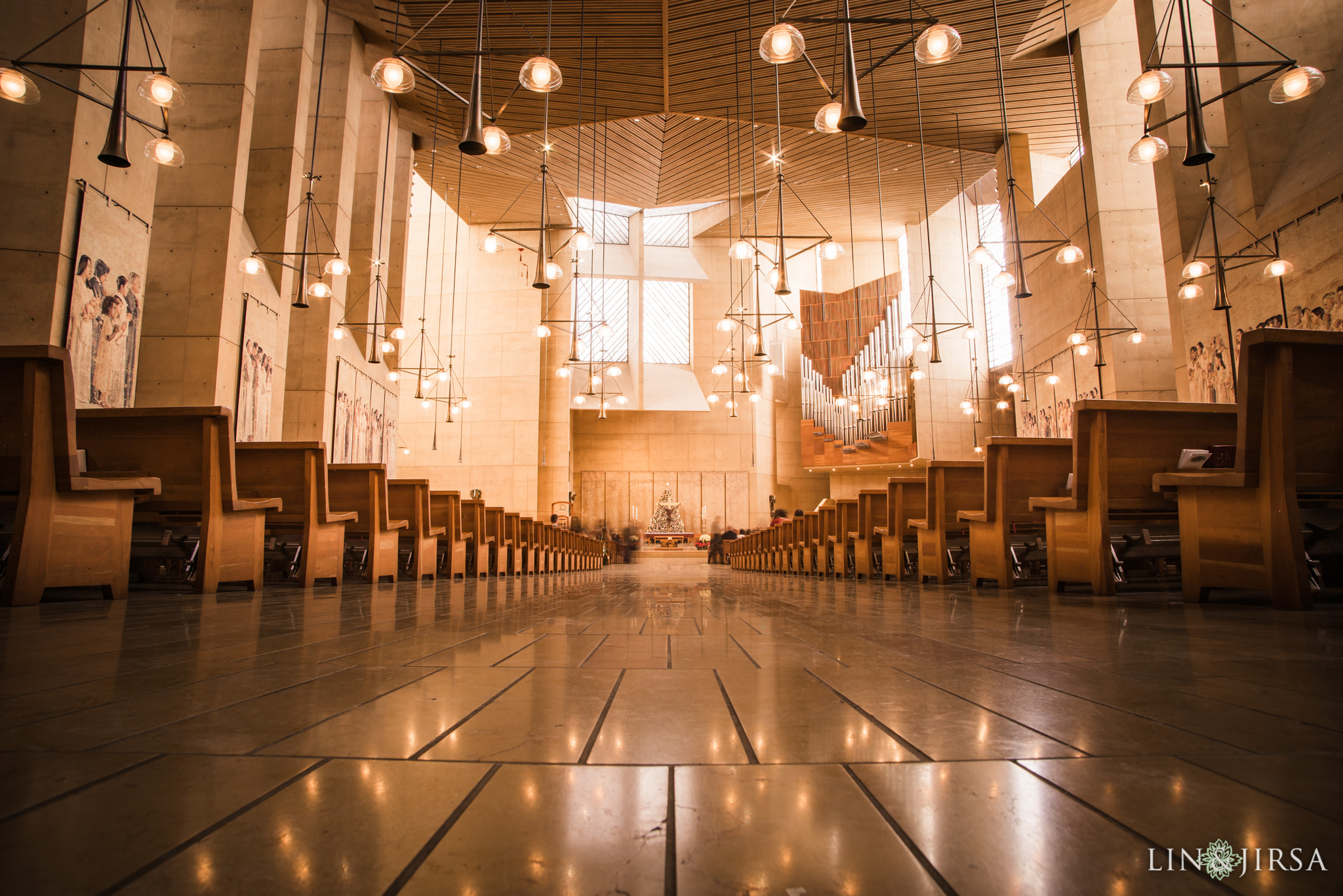 14 cathedral of our lady of angels wedding ceremony photography