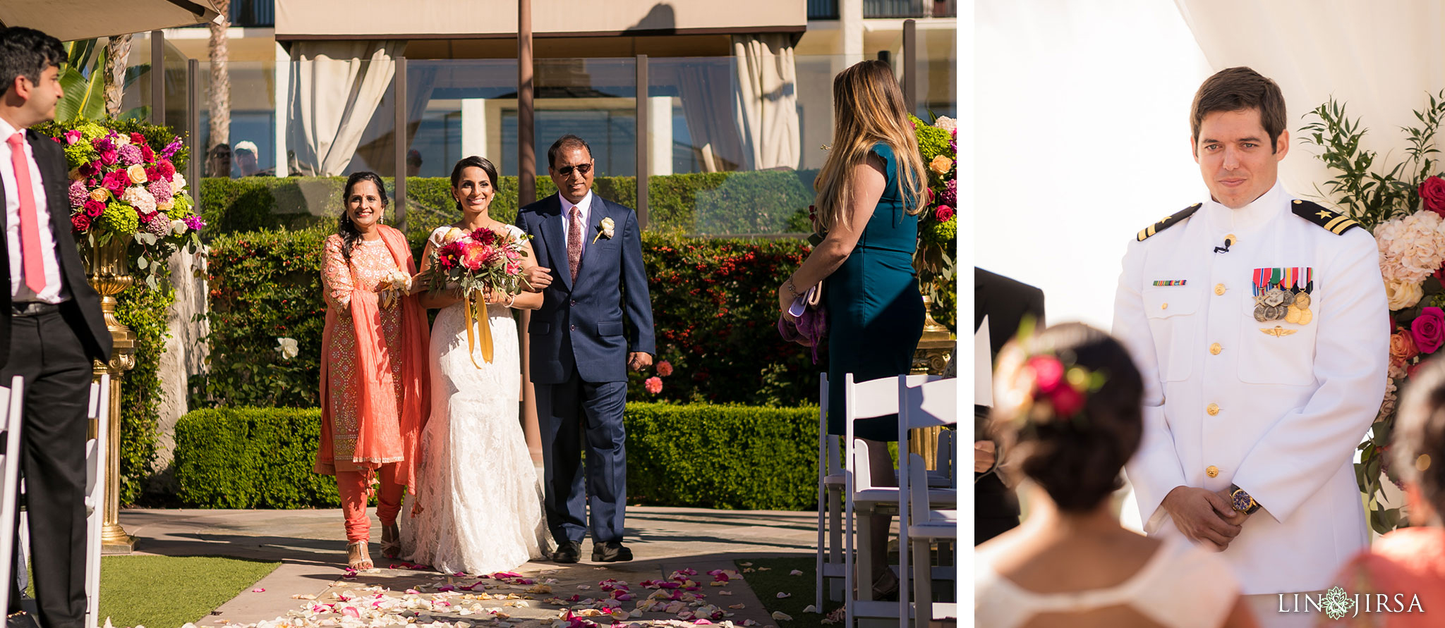 14 newport beach marriott hotel wedding ceremony photography 1
