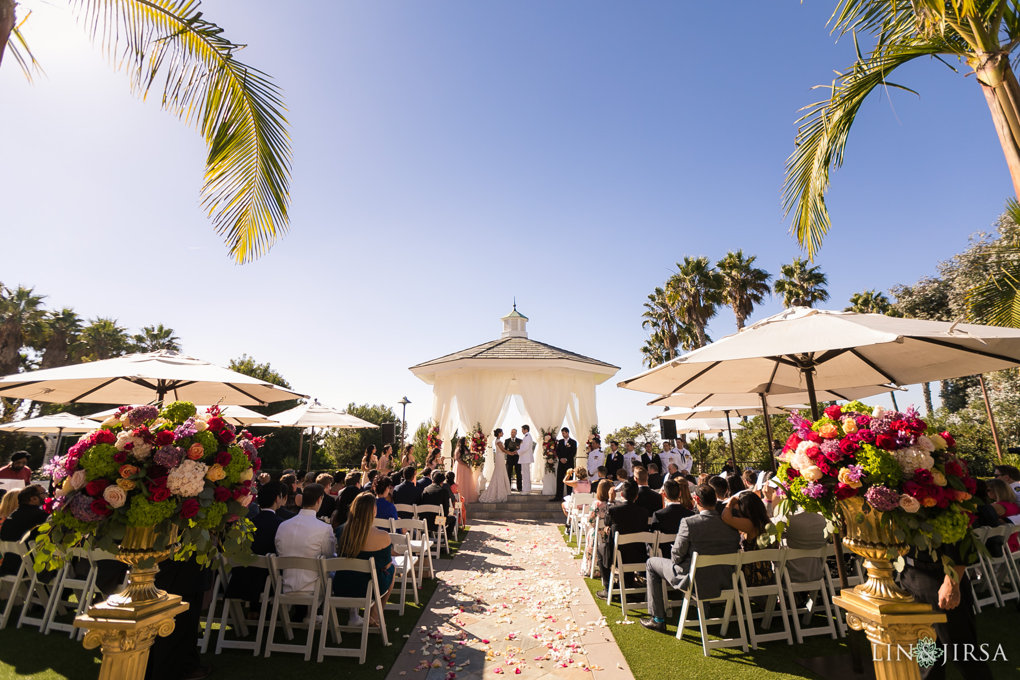 15 Newport Beach Marriott Hotel Wedding Ceremony Photography