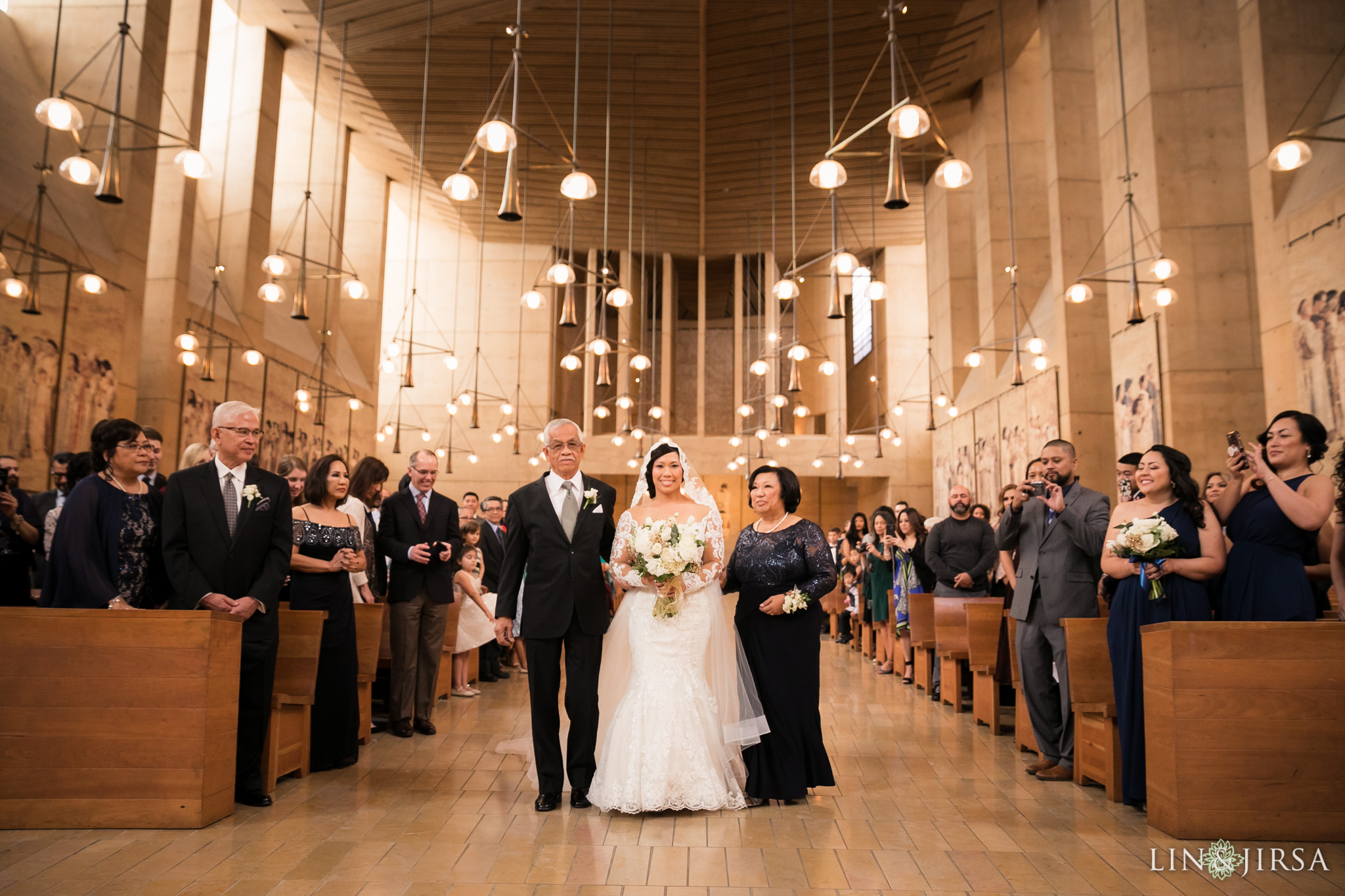 17 cathedral of our lady of angels wedding ceremony photography