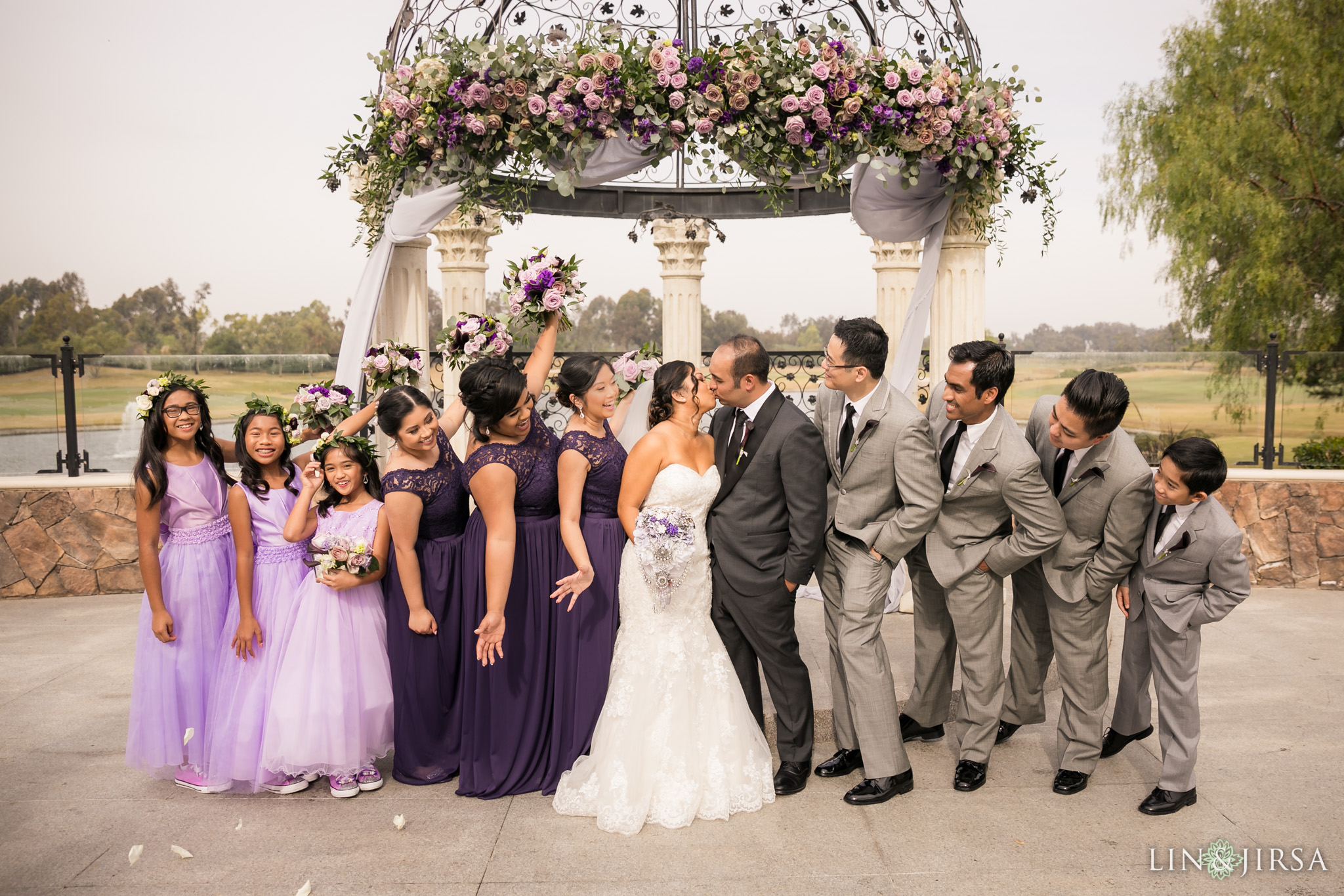 17 old ranch country club seal beach wedding party photography