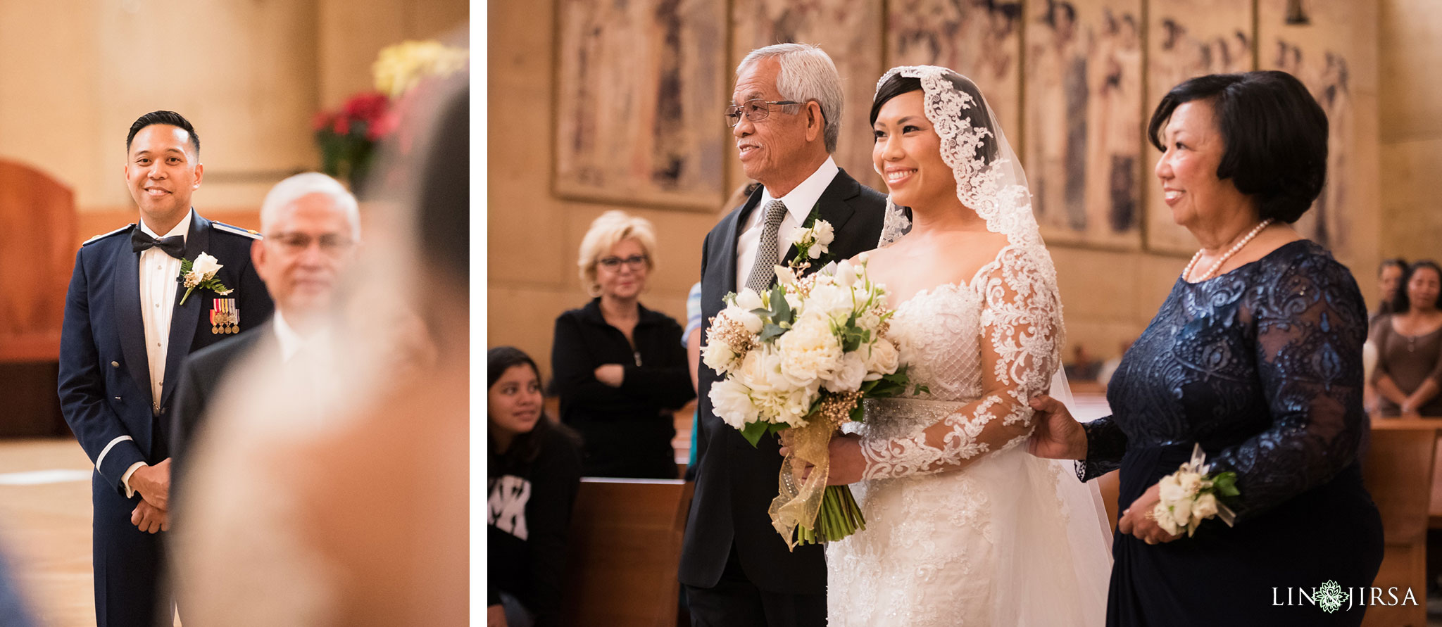 18 cathedral of our lady of angels wedding ceremony photography