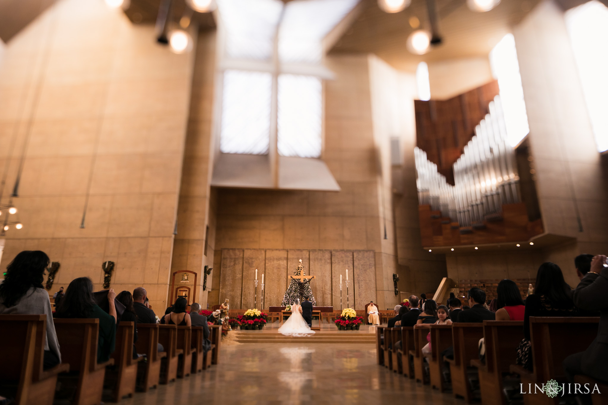 20 cathedral of our lady of angels wedding ceremony photography