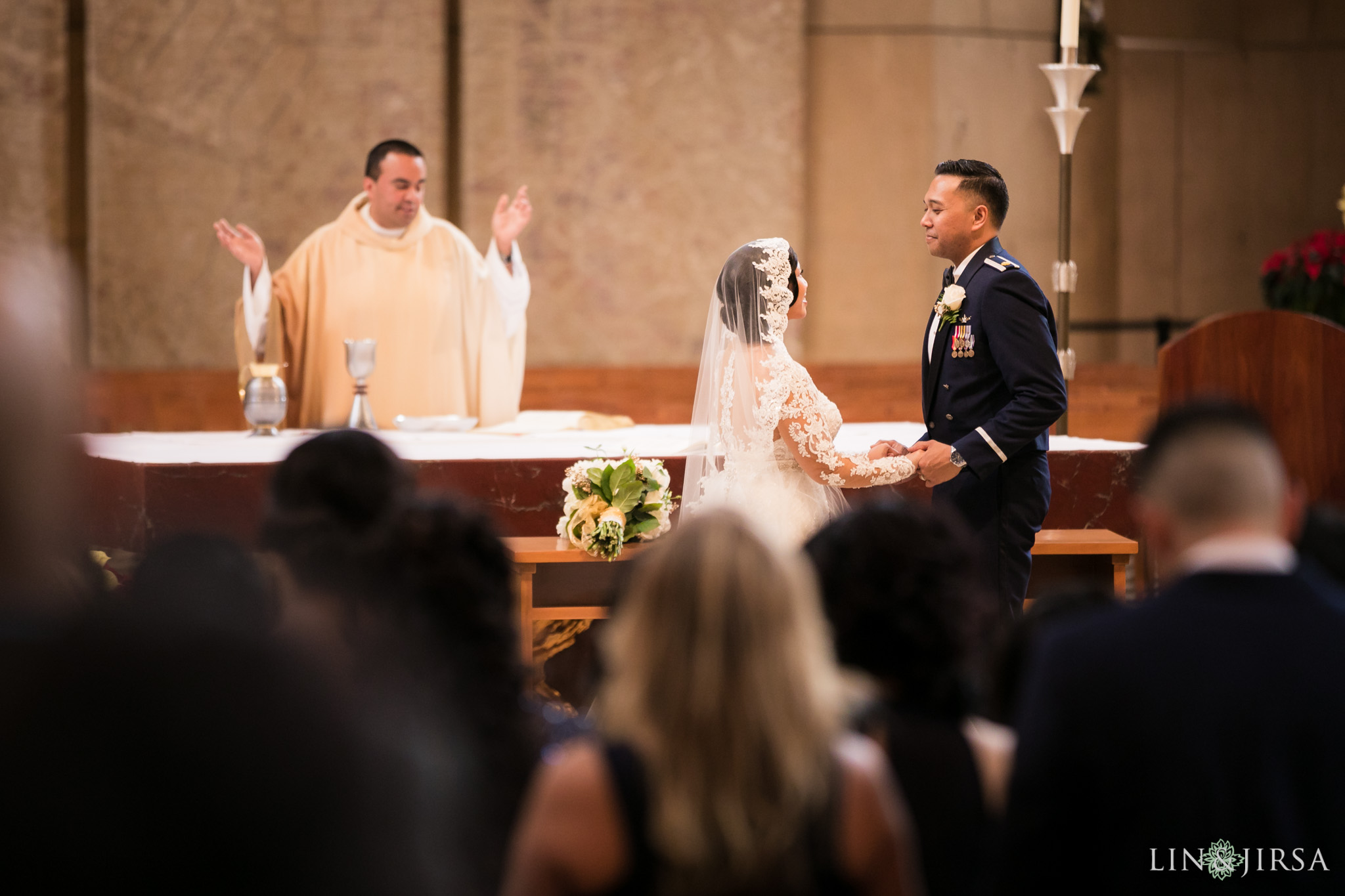 21 cathedral of our lady of angels wedding ceremony photography
