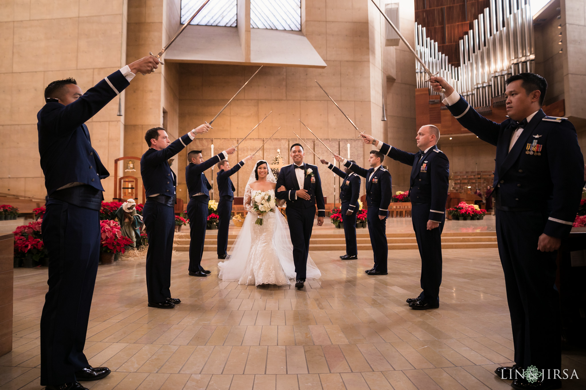 24 cathedral of our lady of angels wedding ceremony photography