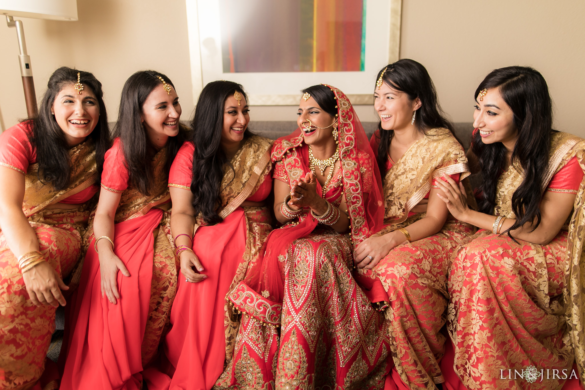 26 newport beach marriott hotel indian wedding bridesmaids photography