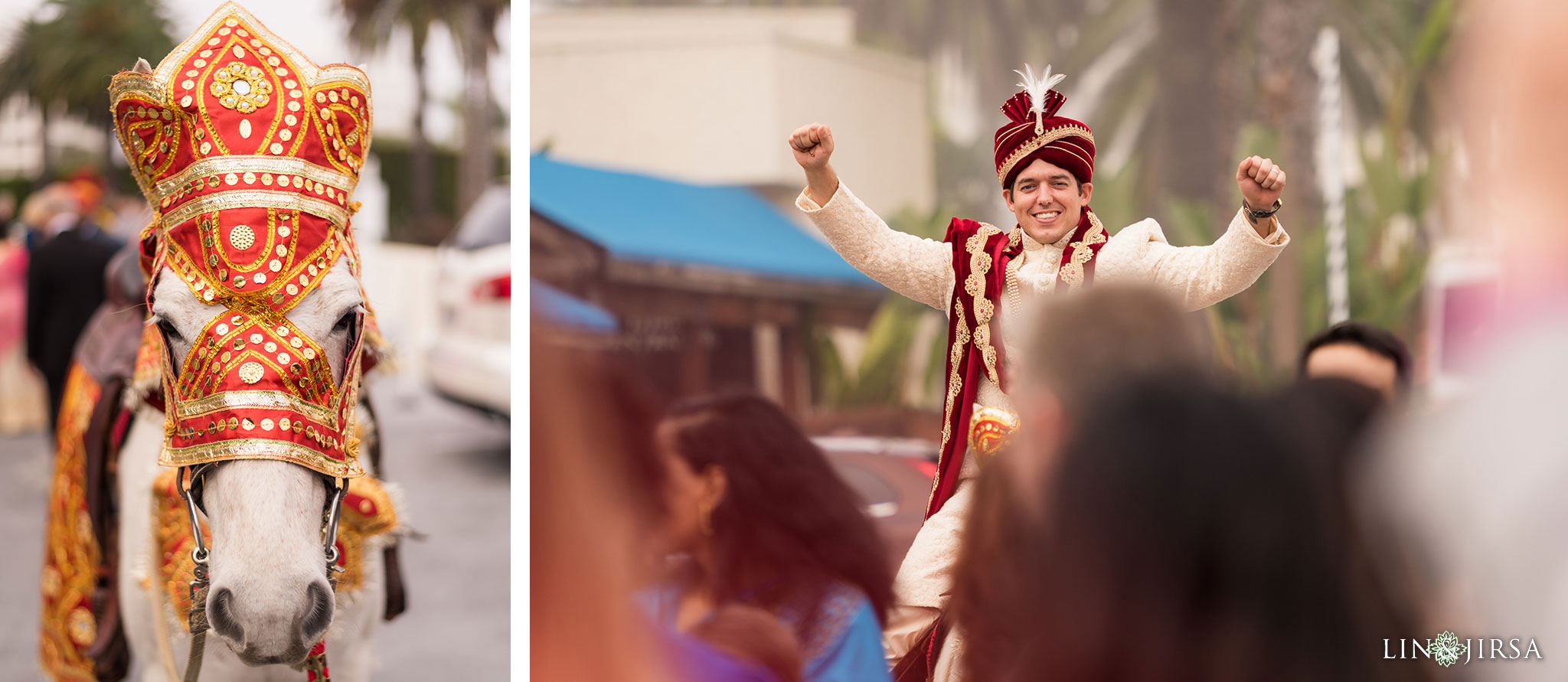 30 newport beach marriott hotel indian wedding baraat photography