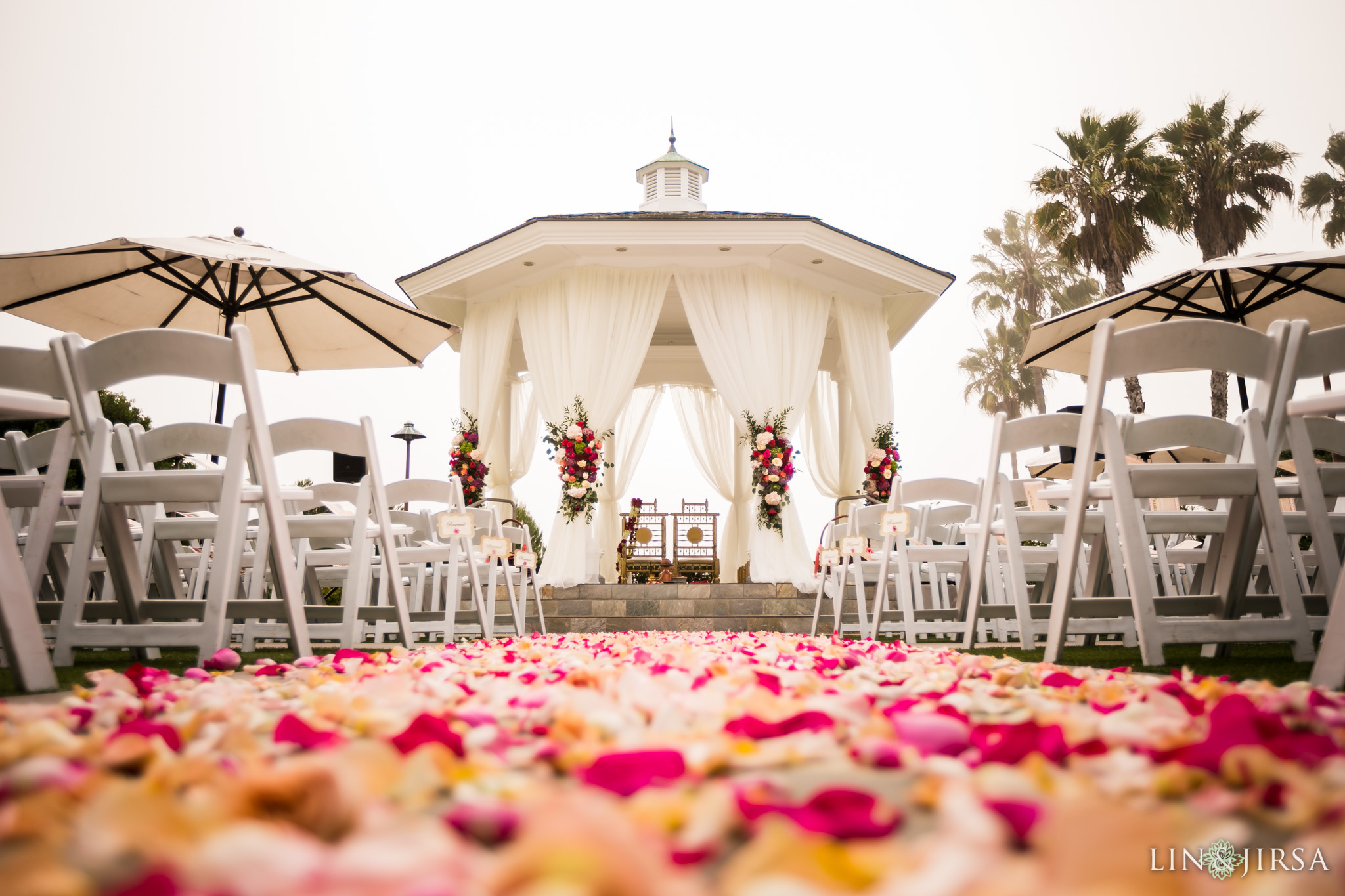 34 Newport Beach Marriott Hotel Indian Wedding Ceremony Photography
