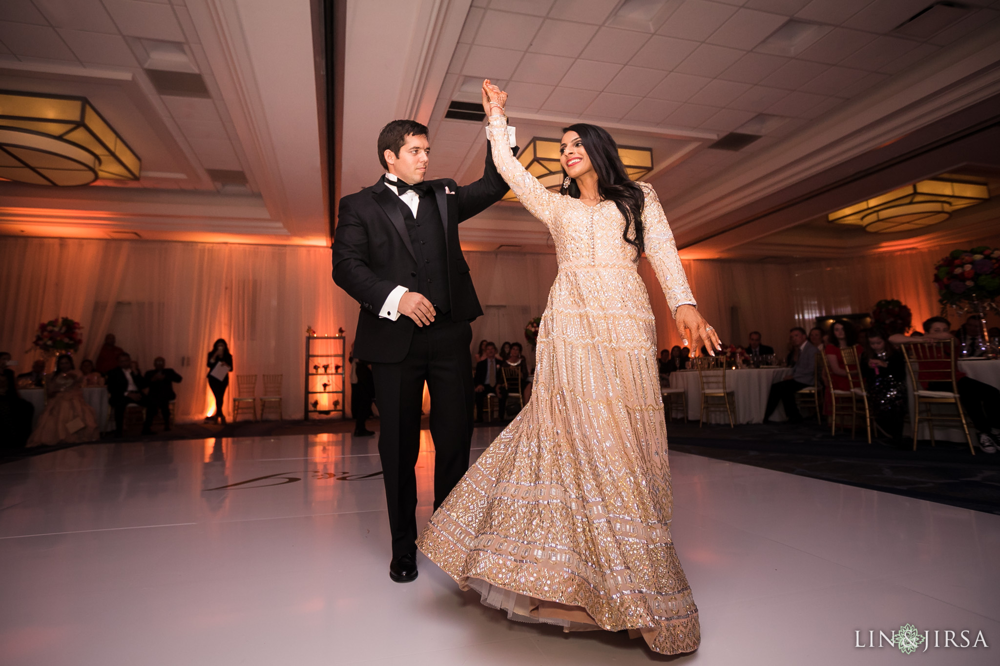 52 newport beach marriott hotel indian wedding reception photography