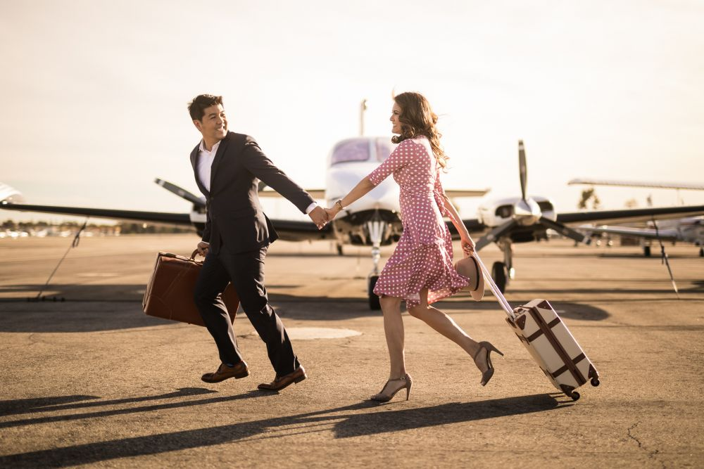 0 john wayne airport orange county engagement photography