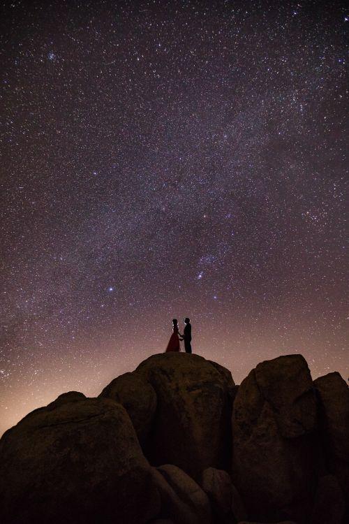 0 joshua tree national park milky way stars engagement photography
