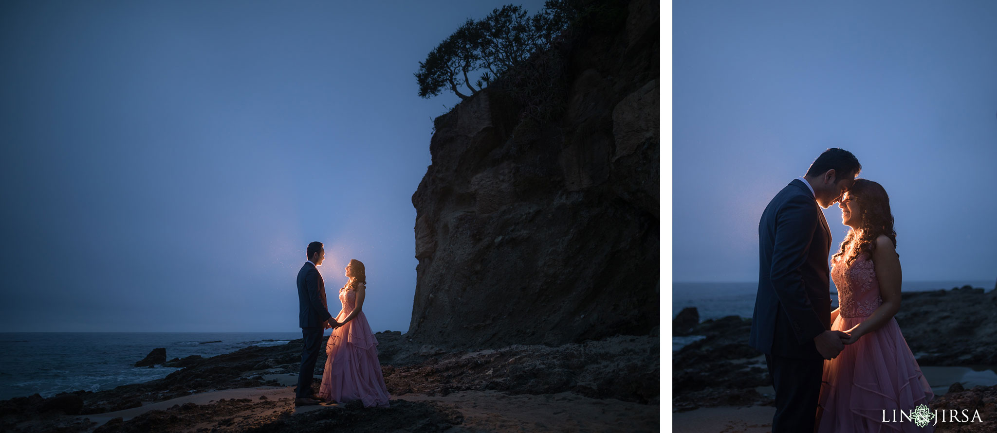 01 laguna beach sunrise private mansion engagement photography