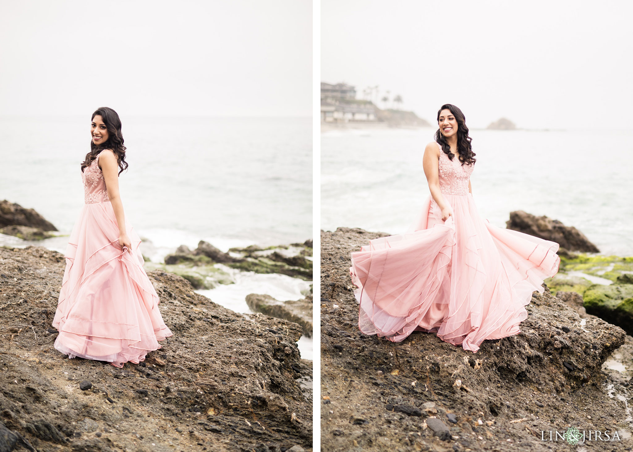 06 laguna beach sunrise private mansion engagement photography