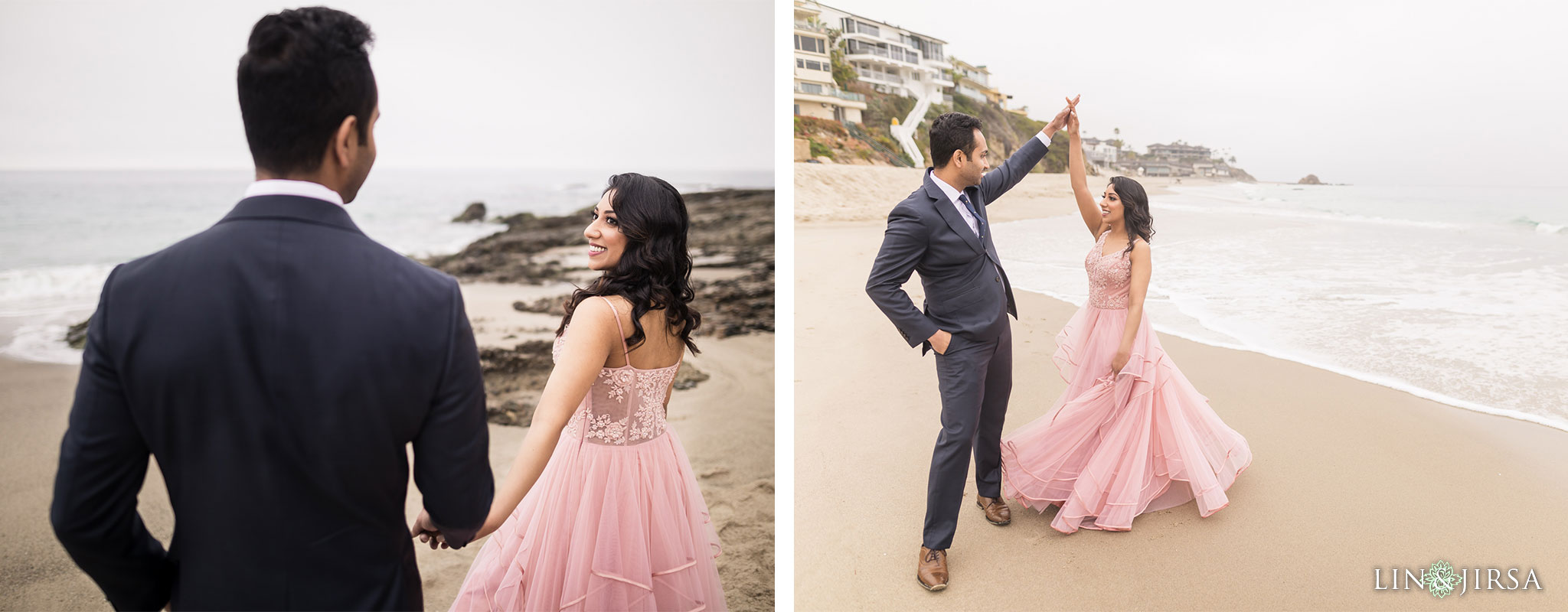 08 laguna beach sunrise private mansion engagement photography