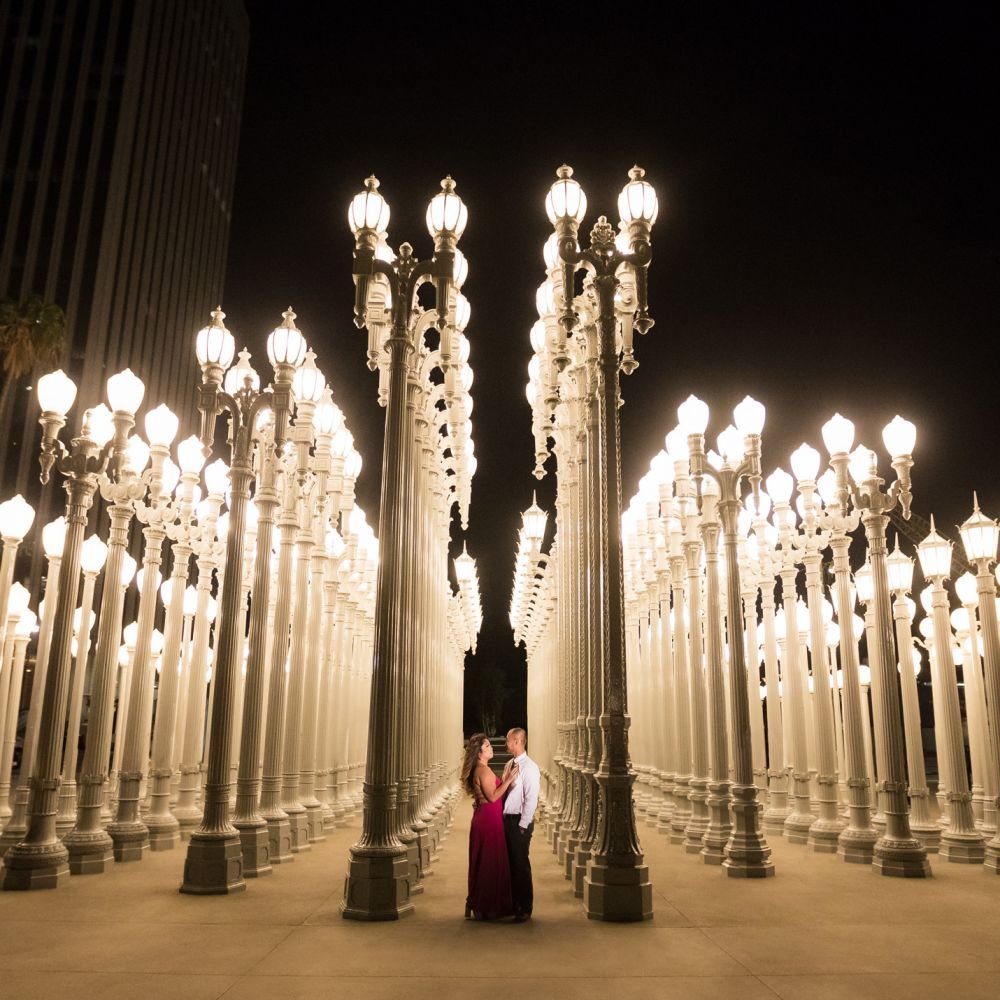 LACMA los angeles engagement photography