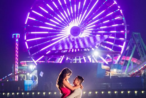 0 santa monica pier engagement photography
