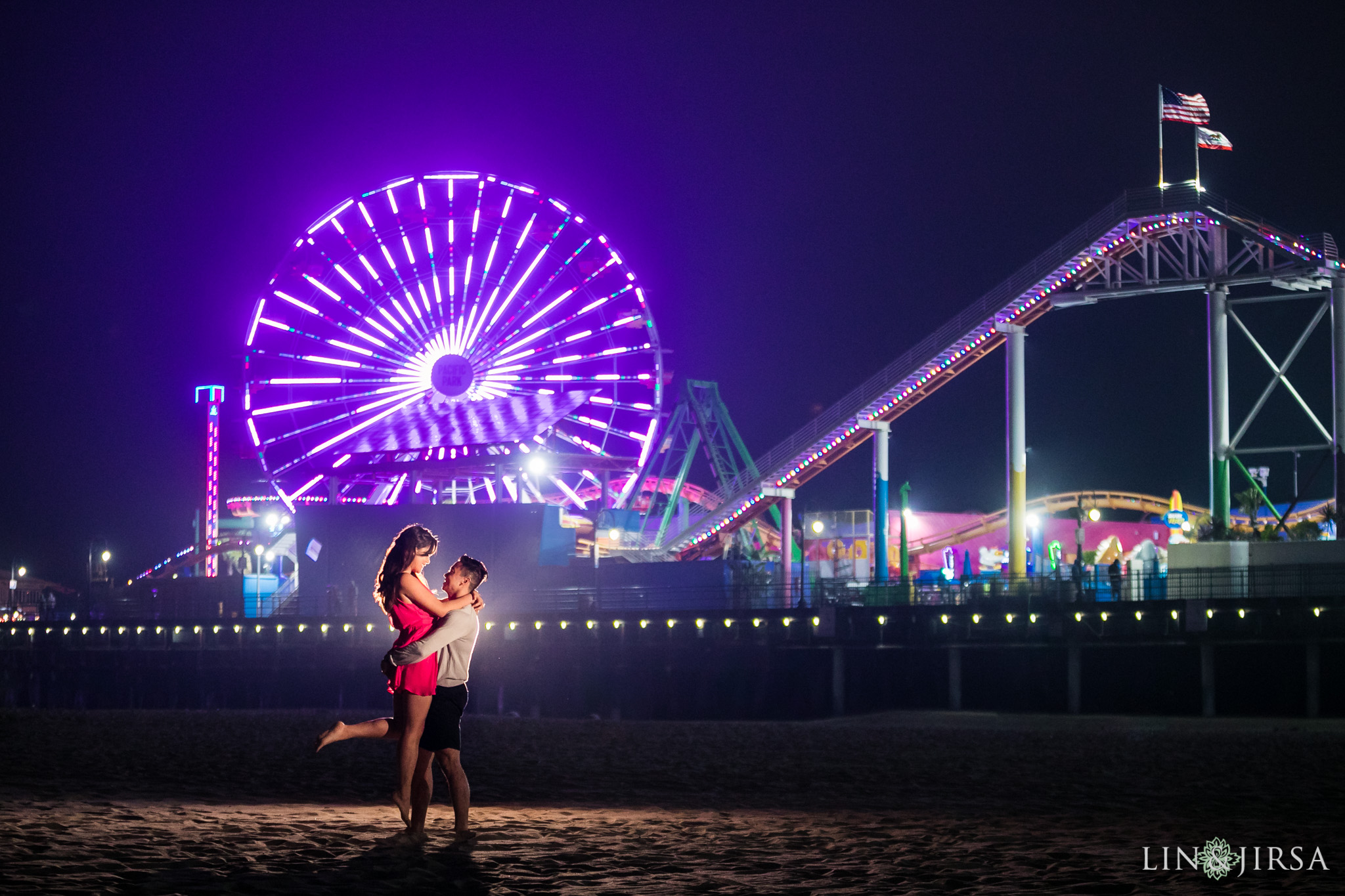 08 santa monica pier engagement photography