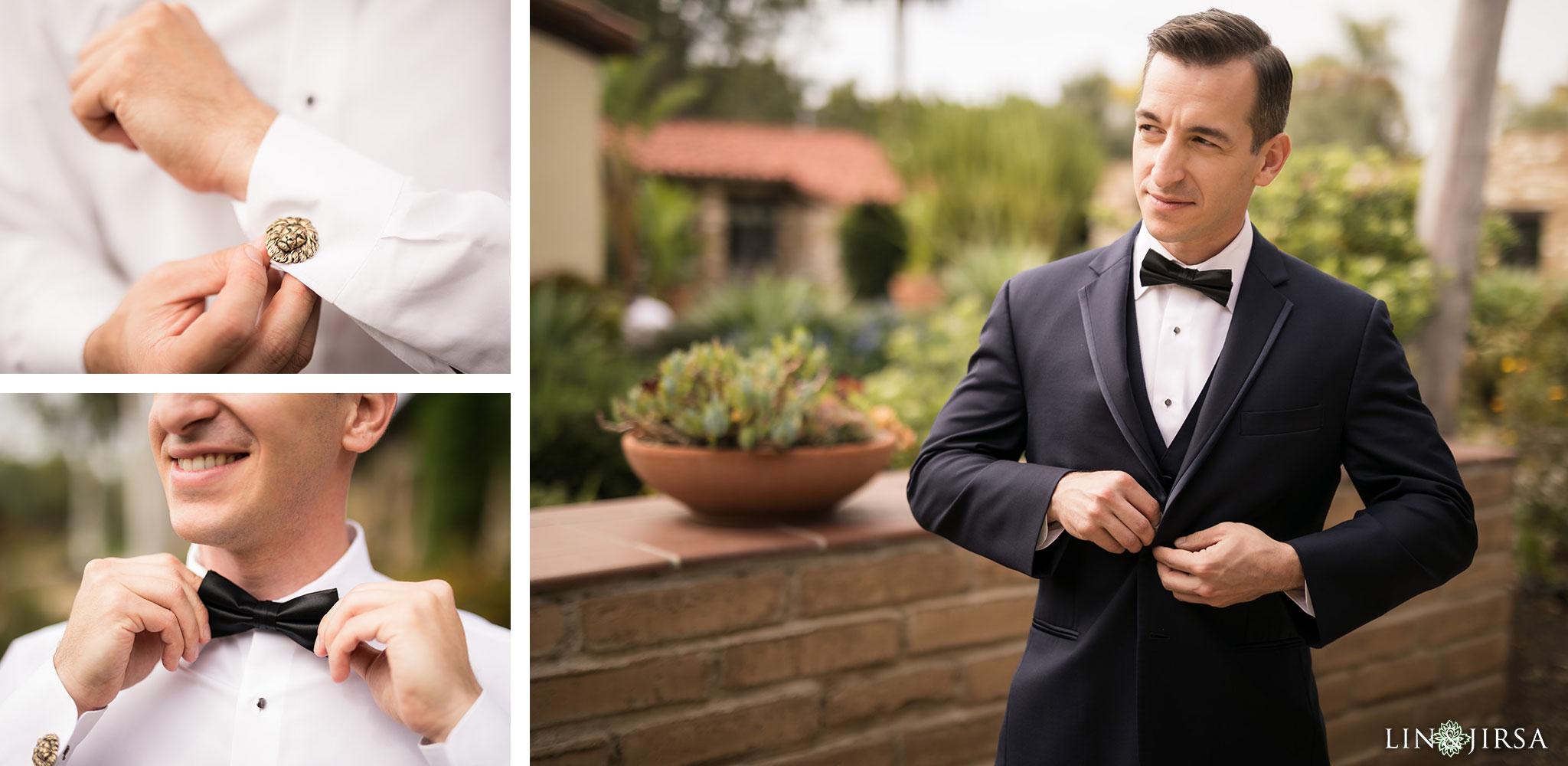 09 estancia la jolla hotel and spa groom wedding photography