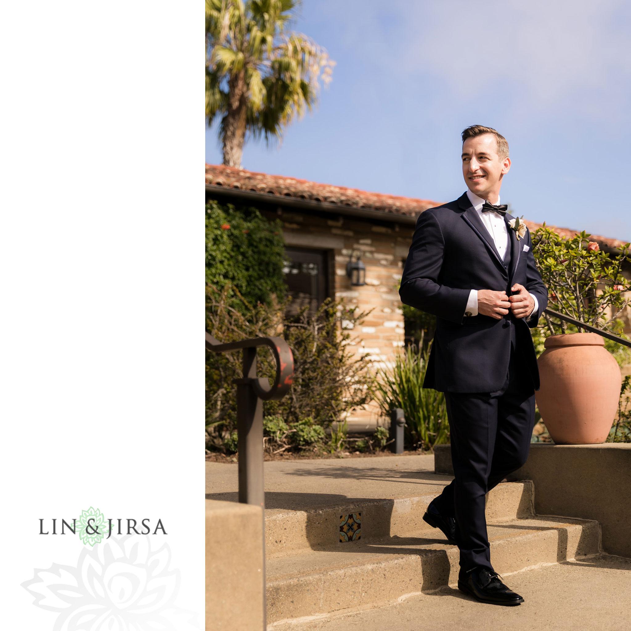 10 estancia la jolla hotel and spa groom wedding photography