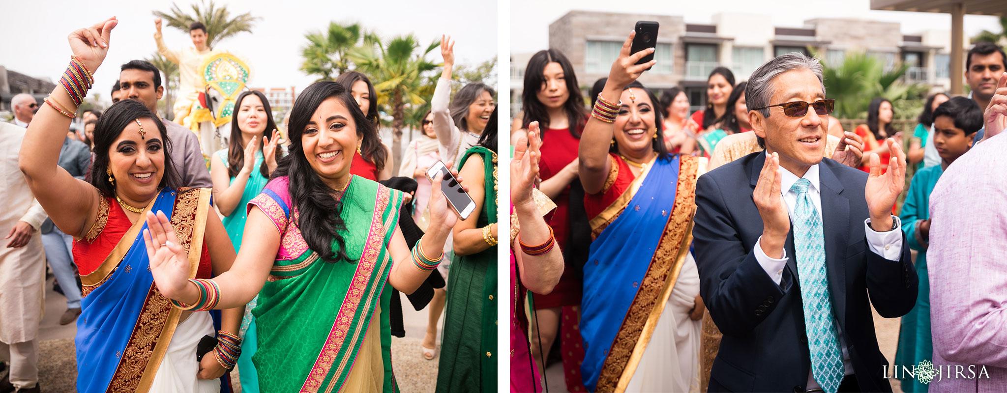 17 pasea hotel and spa huntington beach indian wedding baraat photography