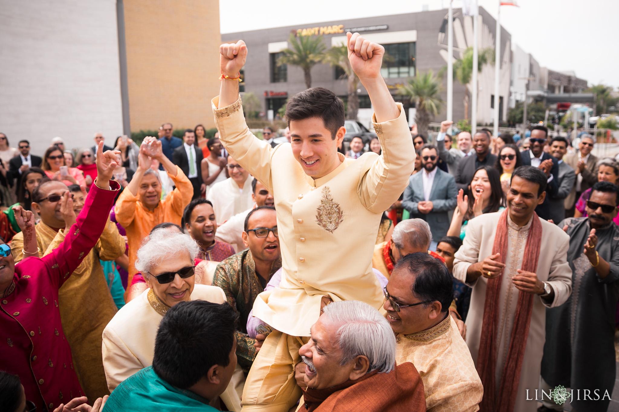 18 pasea hotel and spa huntington beach indian wedding baraat photography