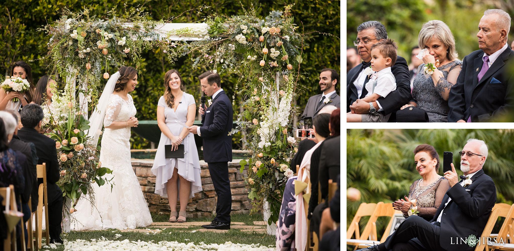 20 estancia la jolla hotel and spa wedding ceremony photography