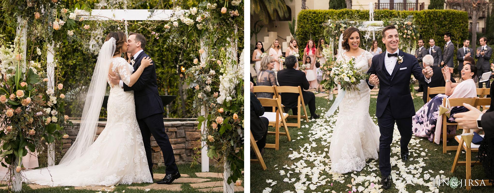 21 estancia la jolla hotel and spa wedding ceremony photography