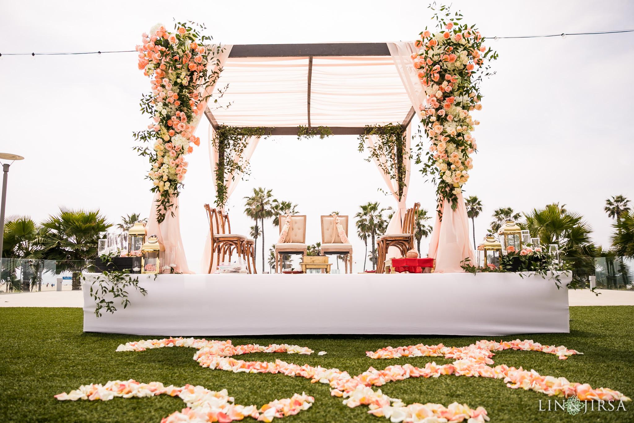 21 pasea hotel and spa huntington beach indian wedding ceremony photography