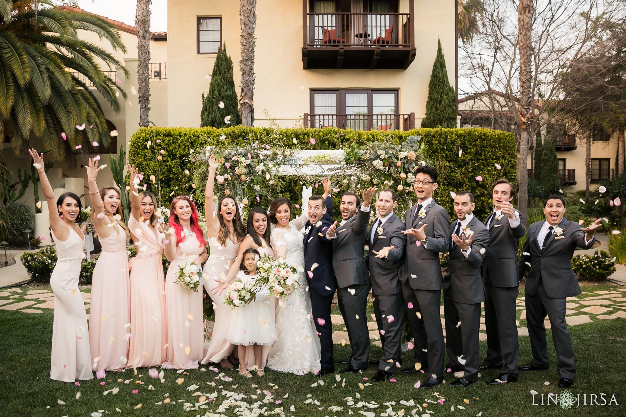 22 estancia la jolla hotel and spa wedding party photography