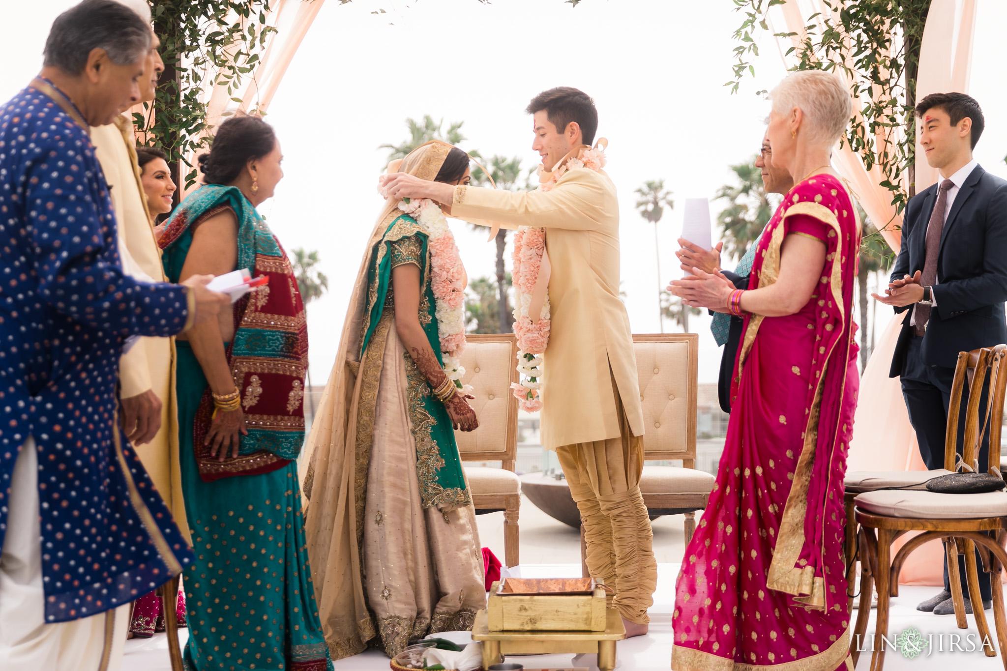 28 pasea hotel and spa huntington beach indian wedding ceremony photography