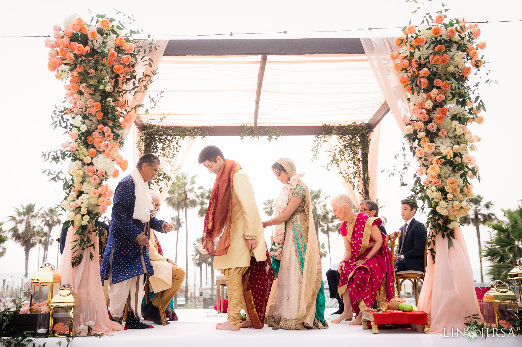 30 pasea hotel and spa huntington beach indian wedding ceremony photography
