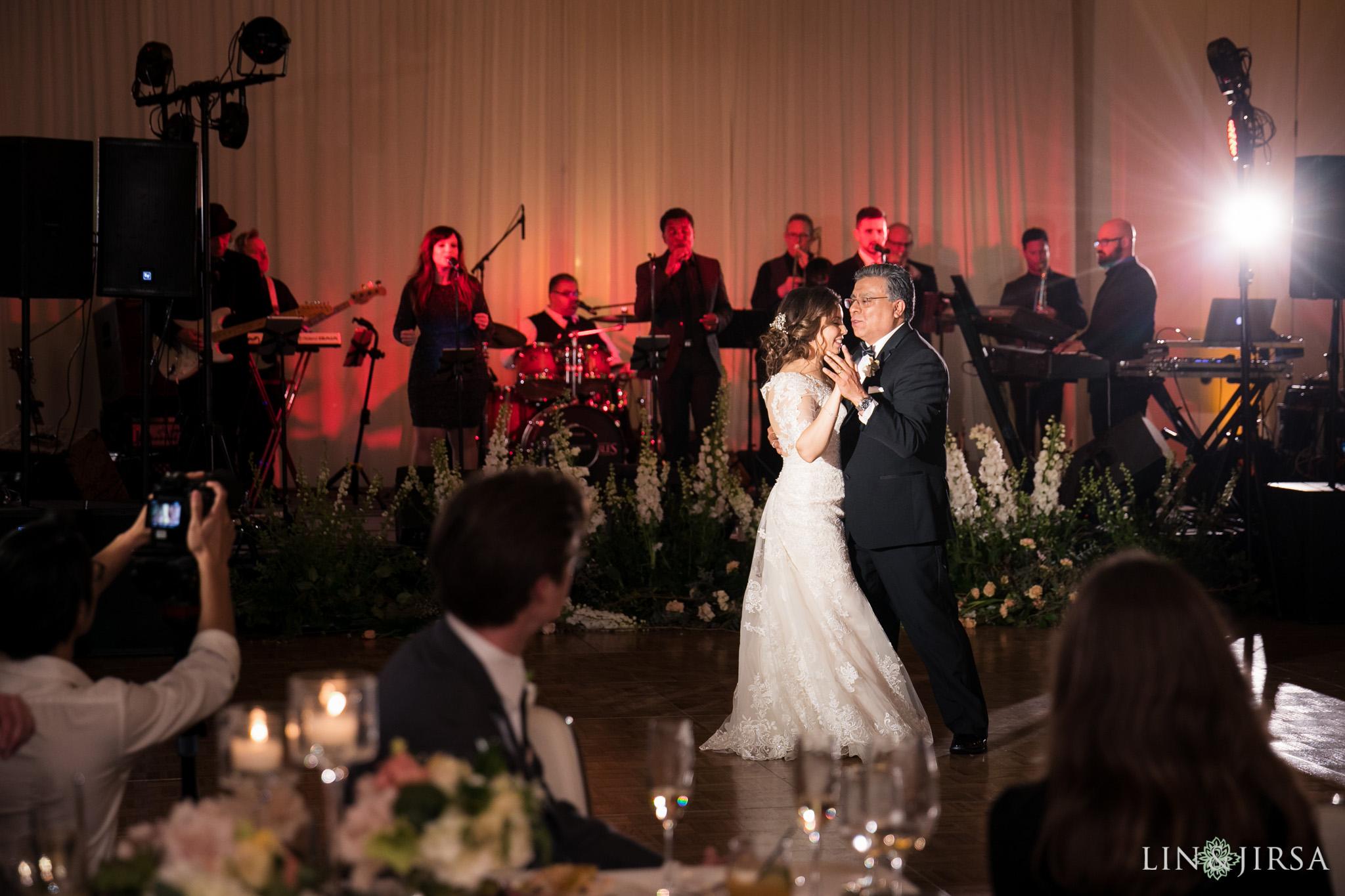 31 estancia la jolla hotel and spa wedding reception photography